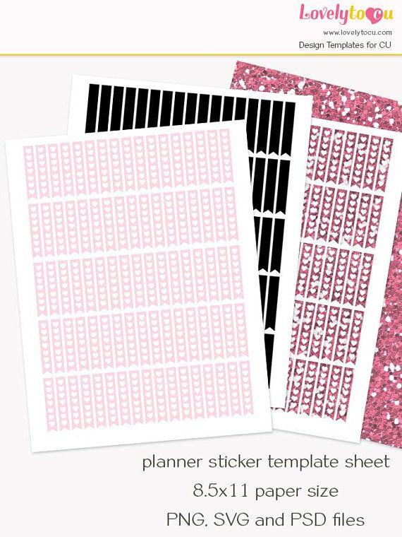 Planner sticker template DIY planner stickers collage sheet