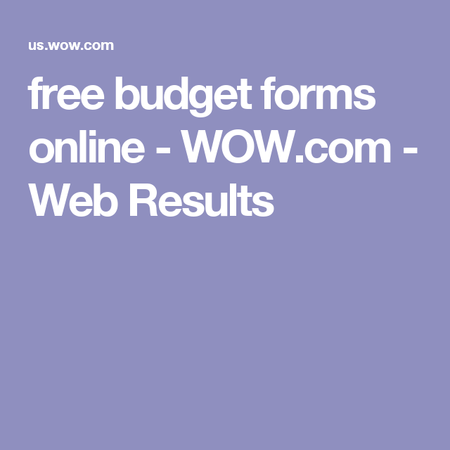 free budget forms online wow com web results educational