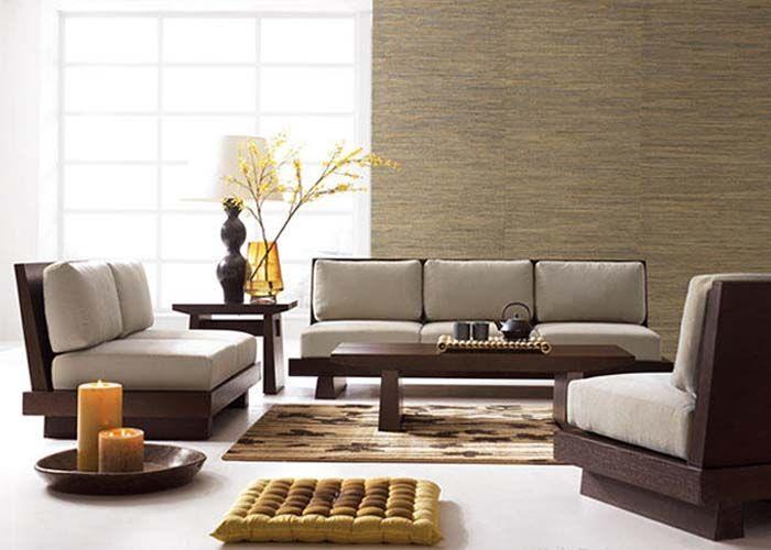 Japanese modern inspiration furniture living area Pinterest