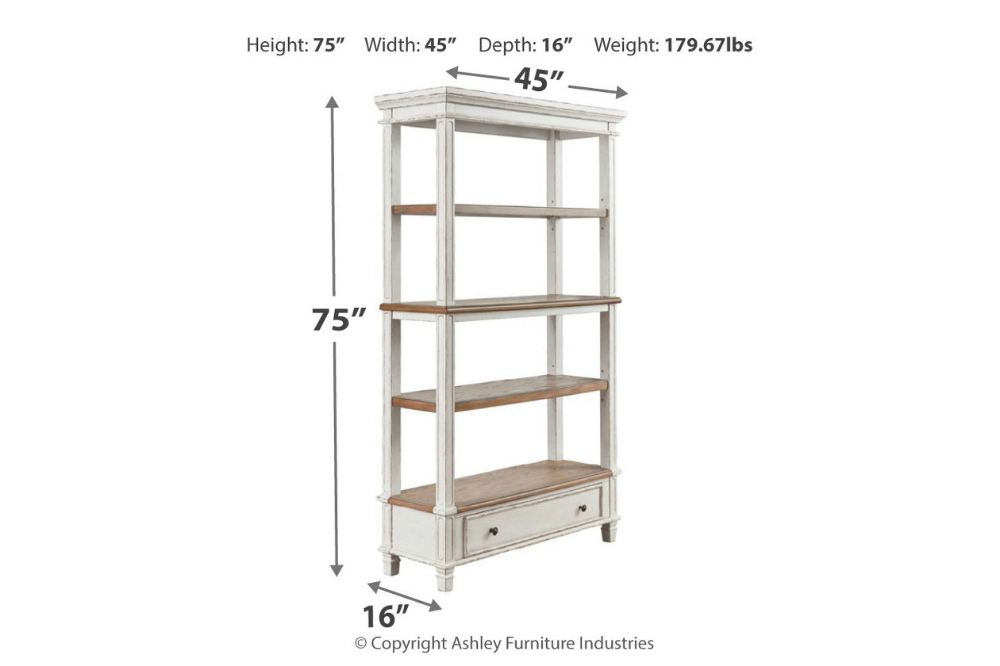 Realyn 75 Bookcase Bookcase Office Furniture Bookcase Office