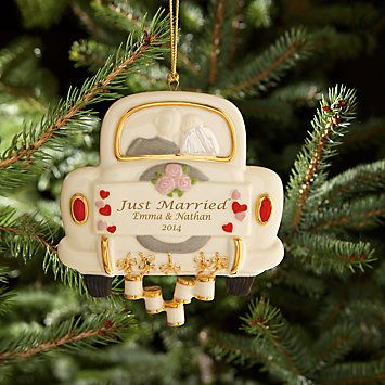 Just Married Wedding Ornament By Lenox From Lenox Married Christmas Ornaments Wedding Christmas Ornaments Wedding Ornament