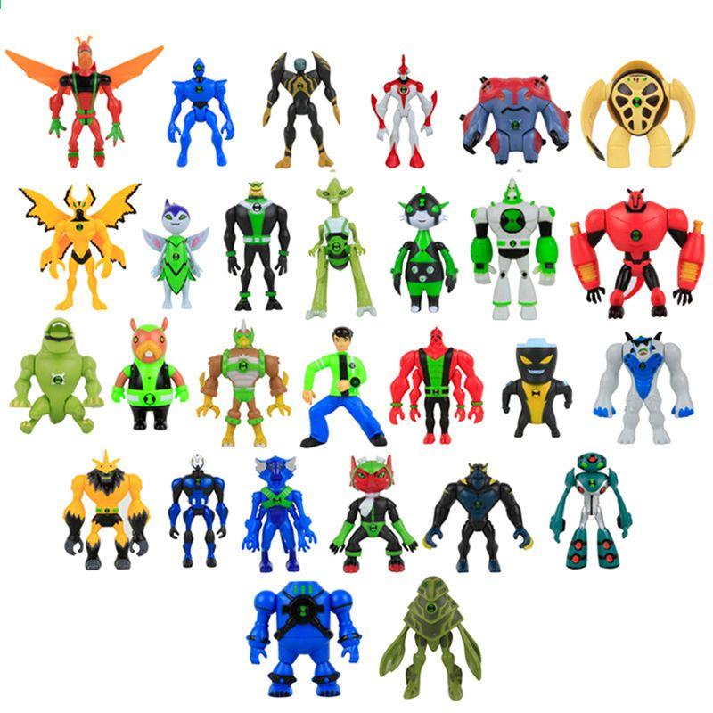 Rohyi 28 Unids Modelos BEN 10 Figuras de Acción Juguetes Muñecas 10 ...
