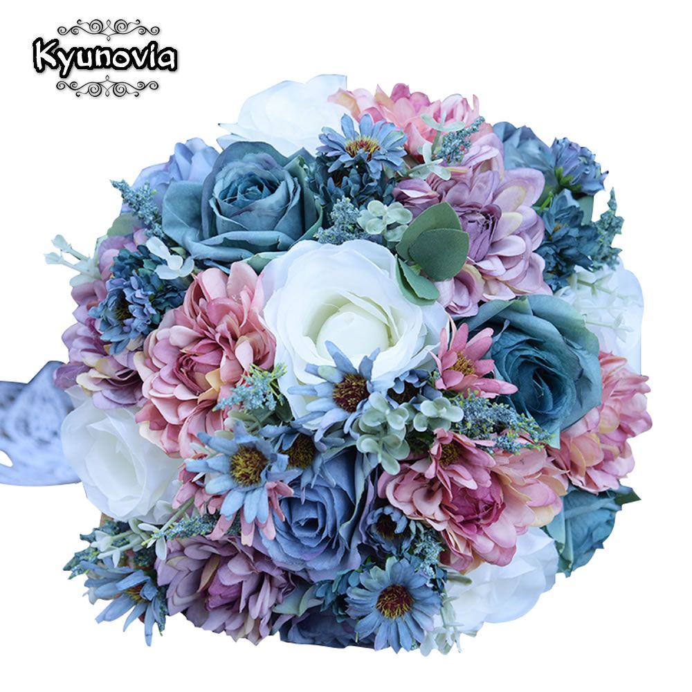 Cheap Bouquets Blue Buy Quality Bridal Silk Bouquets Directly From