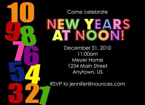 New Years At Noon Invitation What A Good Idea For The Toddlers New Year S Eve Activities Kids New Years Eve New Years Party