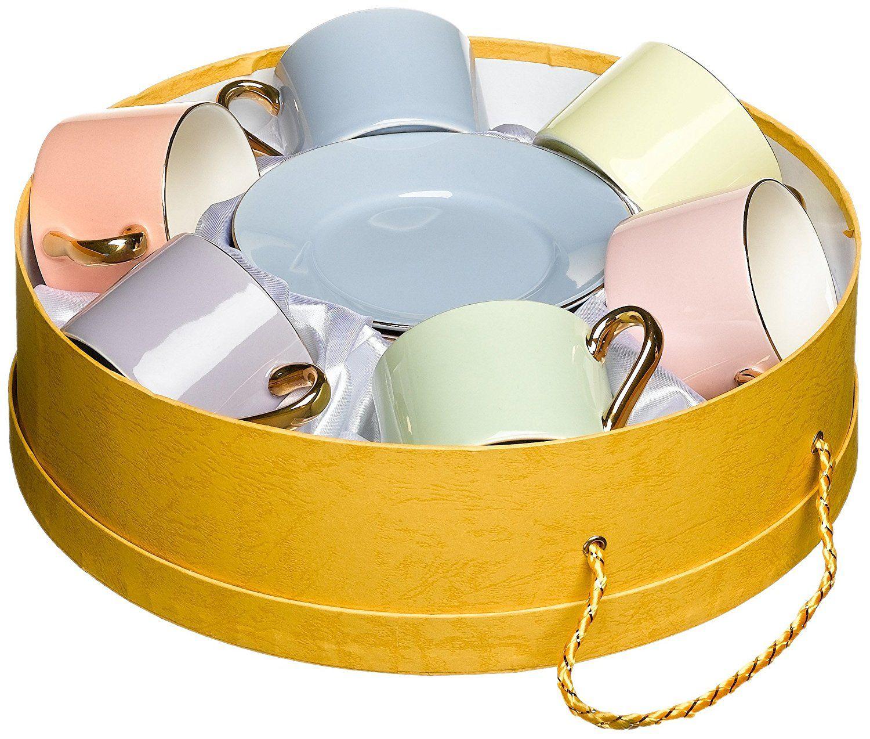 Amazon.com | Yedi Houseware Classic Coffee and Tea Solid Teacups and ...