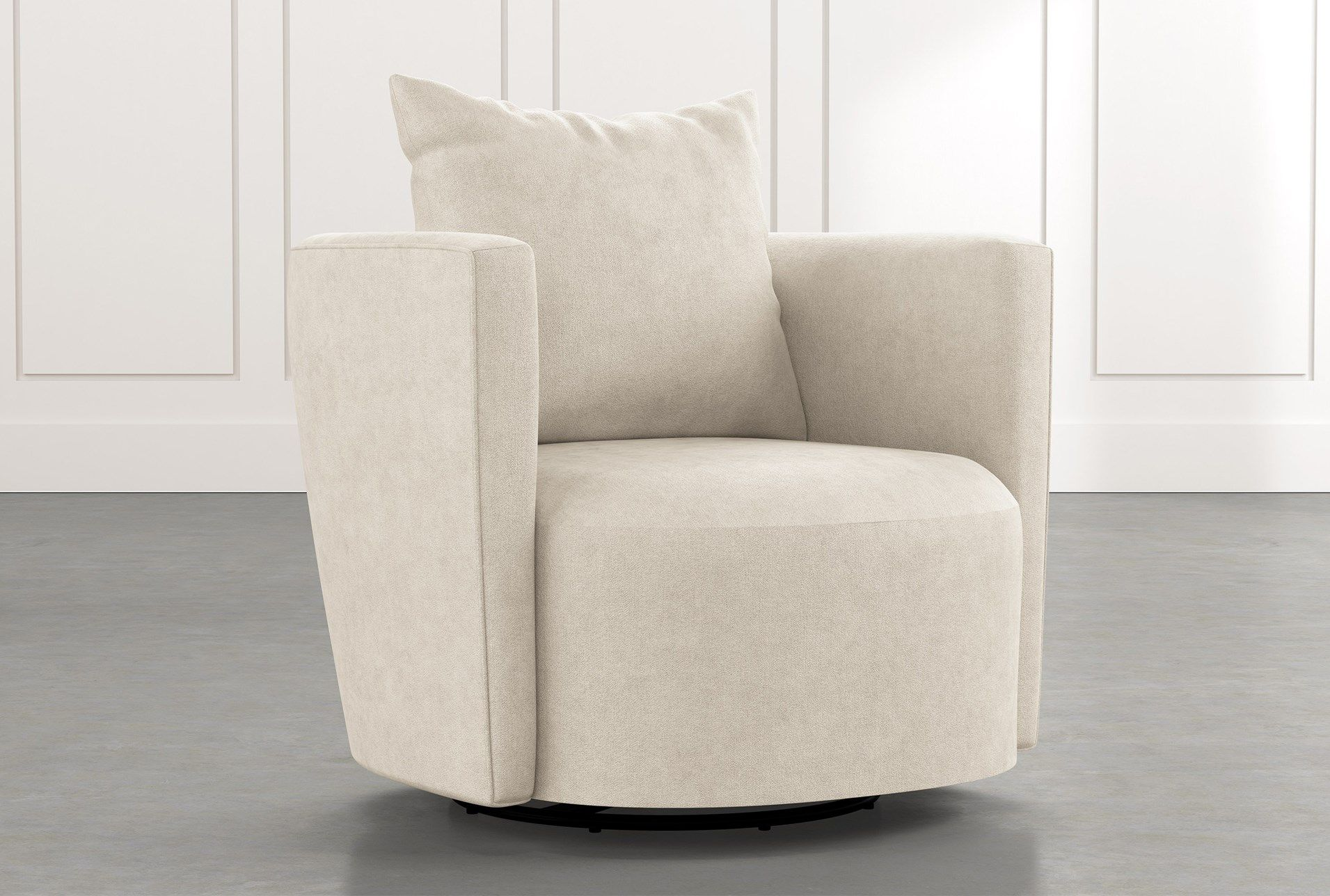 Twirl Beige Swivel Accent Chair In 2020 Accent Chairs Modern