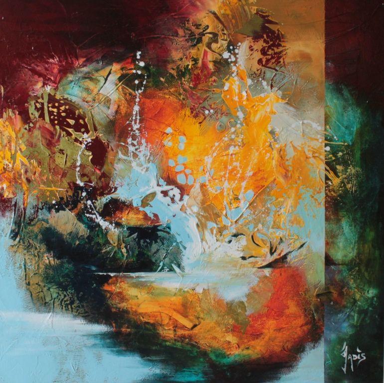 Peinture abstraite art abstrait id e tableaux for Pinterest peinture
