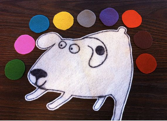 Dog S Colorful Day Flannelboard Story Set By Freshfelts On Etsy