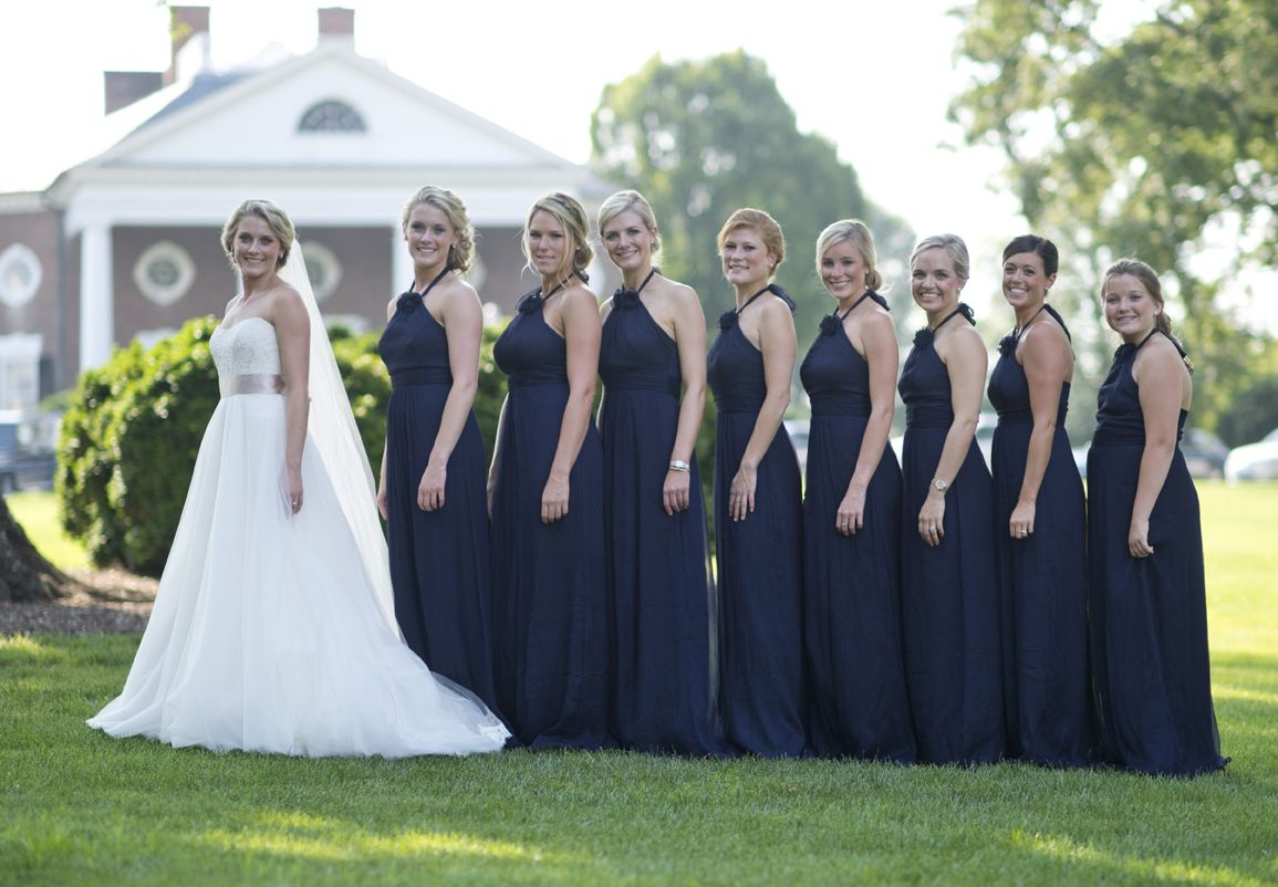 023c89be715 Bella Bridesmaid Amsale dress in Navy Amsale Bridesmaid