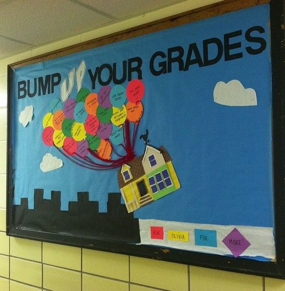 I've recently done a board very similar to this. It doesn't take a whole lot of time and who doesn't like the movie UP!? I came up with my own tips on how residents could improve their grades. Some...