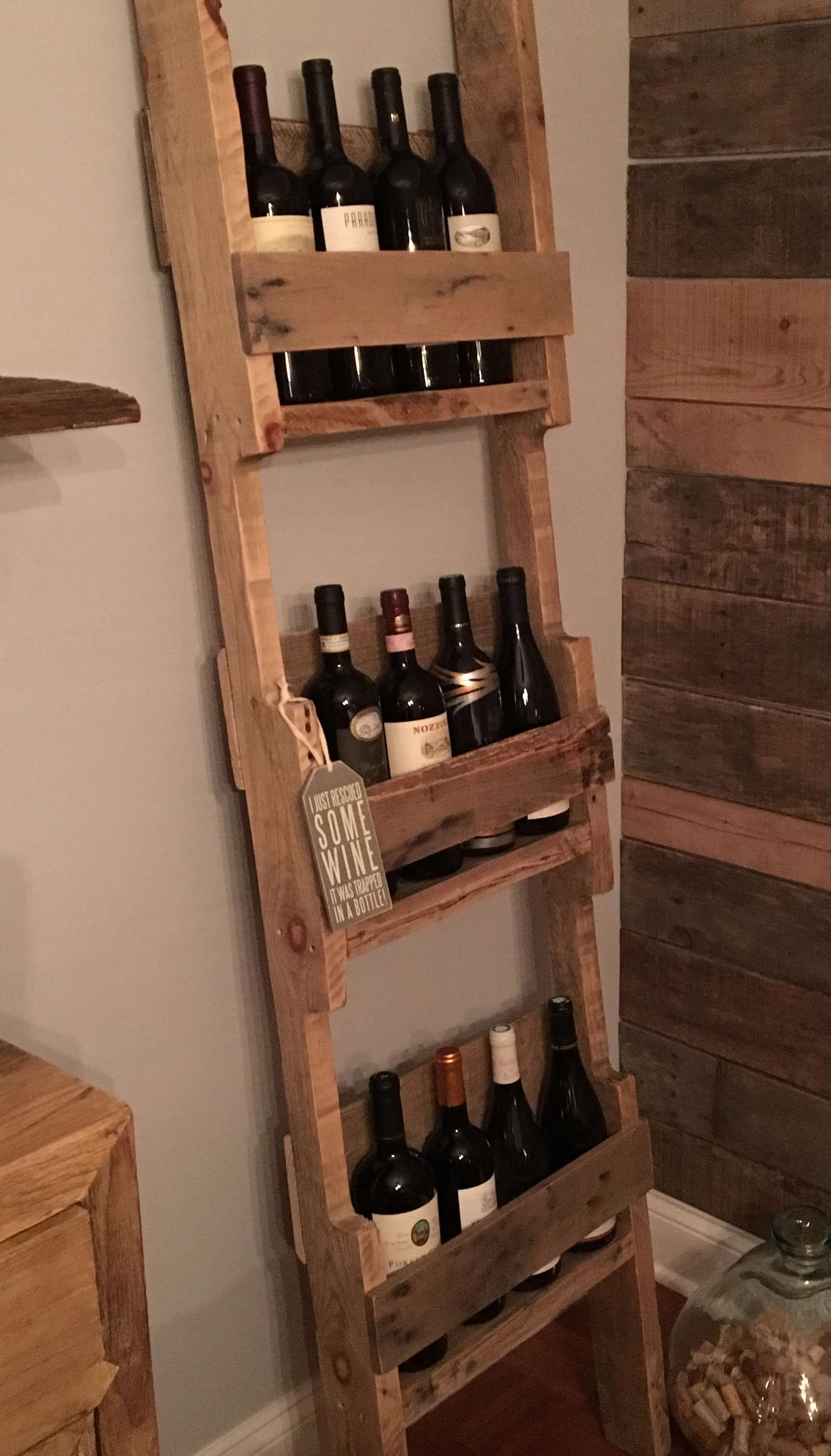 Ladder Style 12 Bottles Wine Rack Wine Rack Pallet Wine Rack