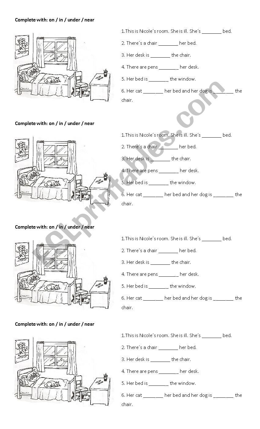 A Super Easy Activity For Kids Starting To Learn The Prepositions Of Place Prepositions English Prepositions Grammar Worksheets [ 1400 x 850 Pixel ]