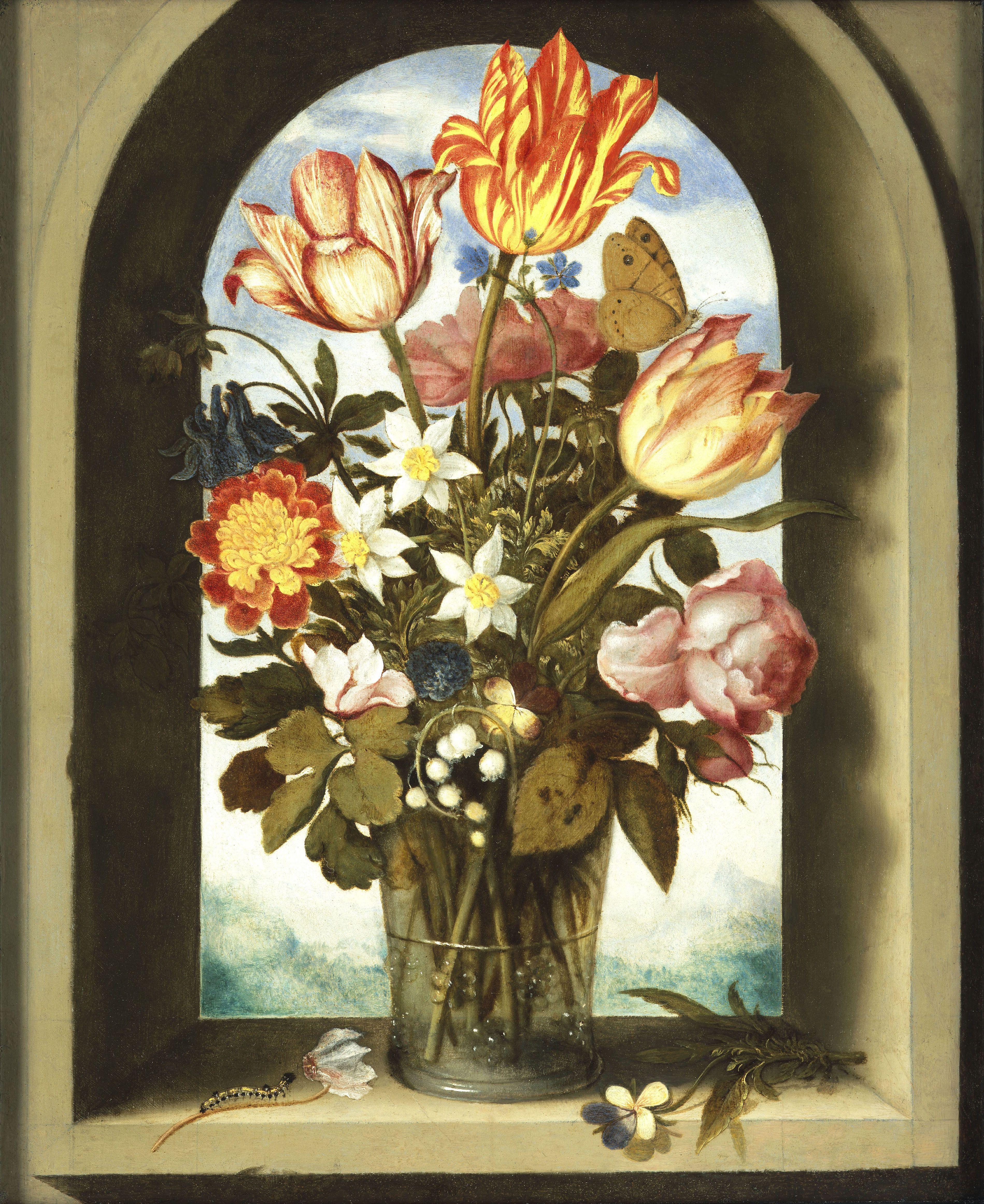 A. BOSSCHAERT - Dutch Still Life of Flowers - 17th C