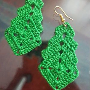 66. ONE Crochet Earrings Pattern, Crochet Earring pattern,  Crochet earrings, elegant shell model - PDF, pattern for advanced crocheters #crochetedearrings
