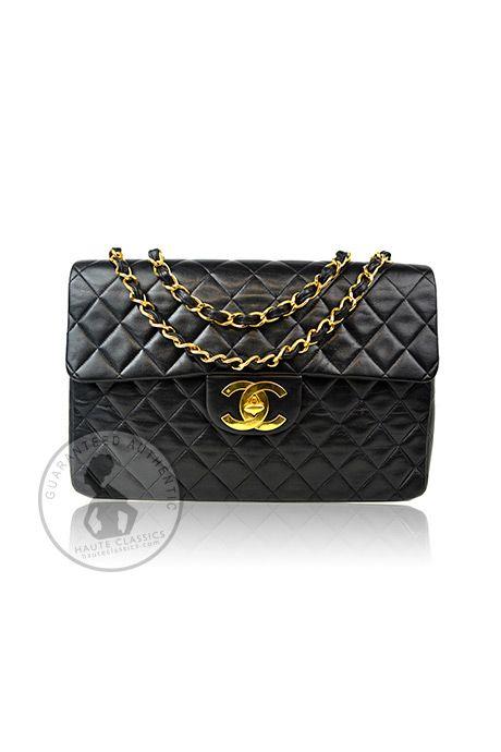 Chanel 2 55 Classic Single Flap Maxi Bag Haute Classics Authentic Luxury Designer Consignment