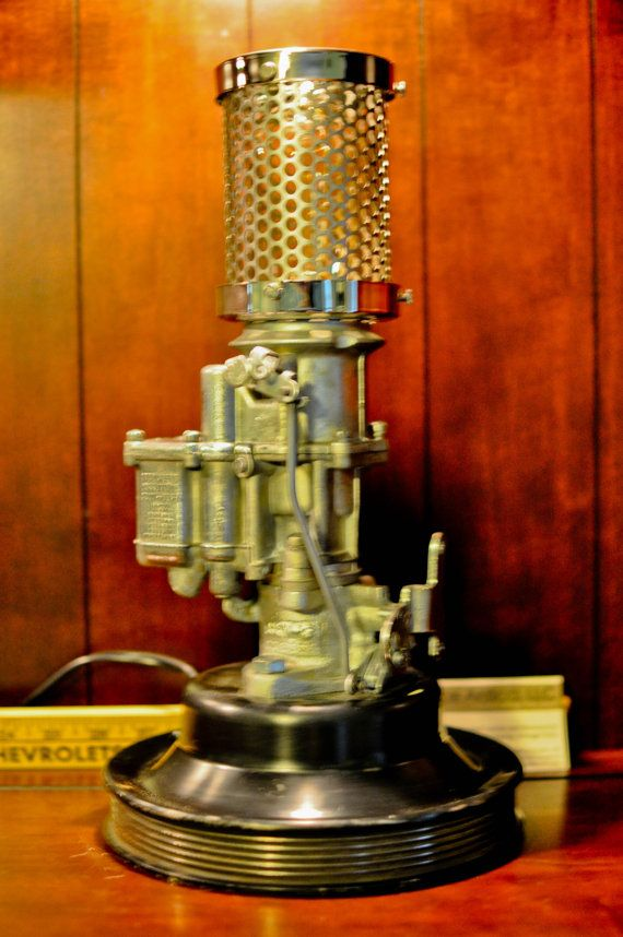 1940 S Dodge Stromberg Carburetor Desk Lamp With Touch Sensitive Dimmer Switch Lamp Steampunk Lighting Unusual Lamps