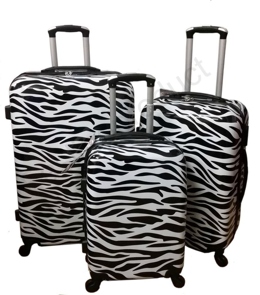 Hard Shell 4 wheels Spinner Suitcase PC Luggage Trolley Case Cabin ...