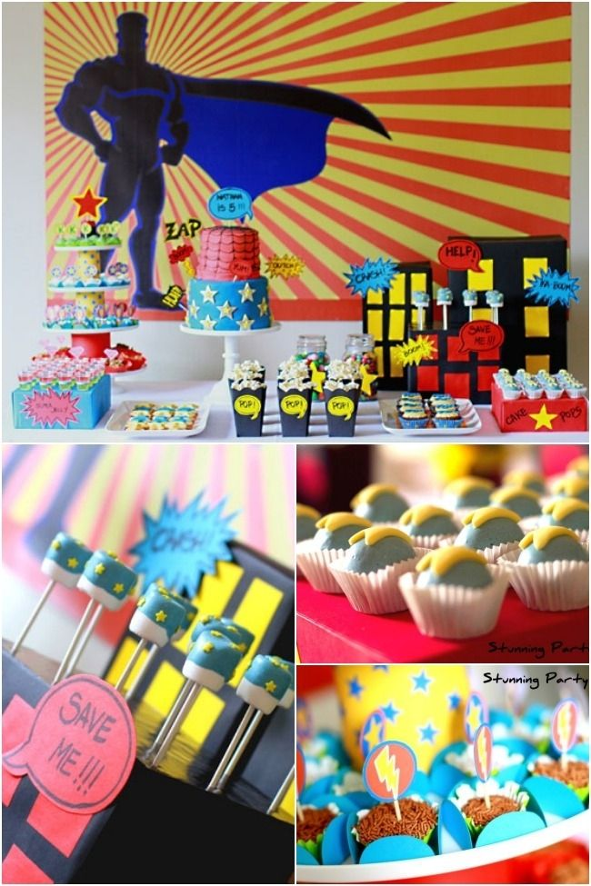 Boys Superhero Themed 5th Birthday Party Boy Birthday Parties