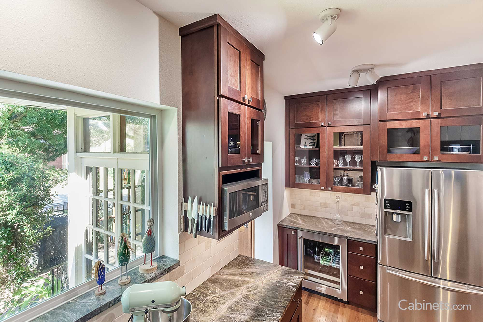 shaker cherry java kitchen discount cabinets on kitchen cabinets java id=55925