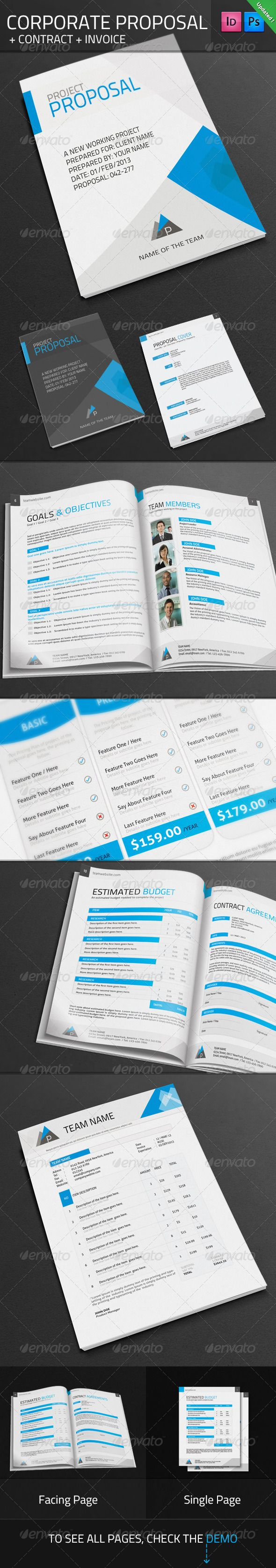 Modern Proposal Contract And Invoice  Proposals Proposal