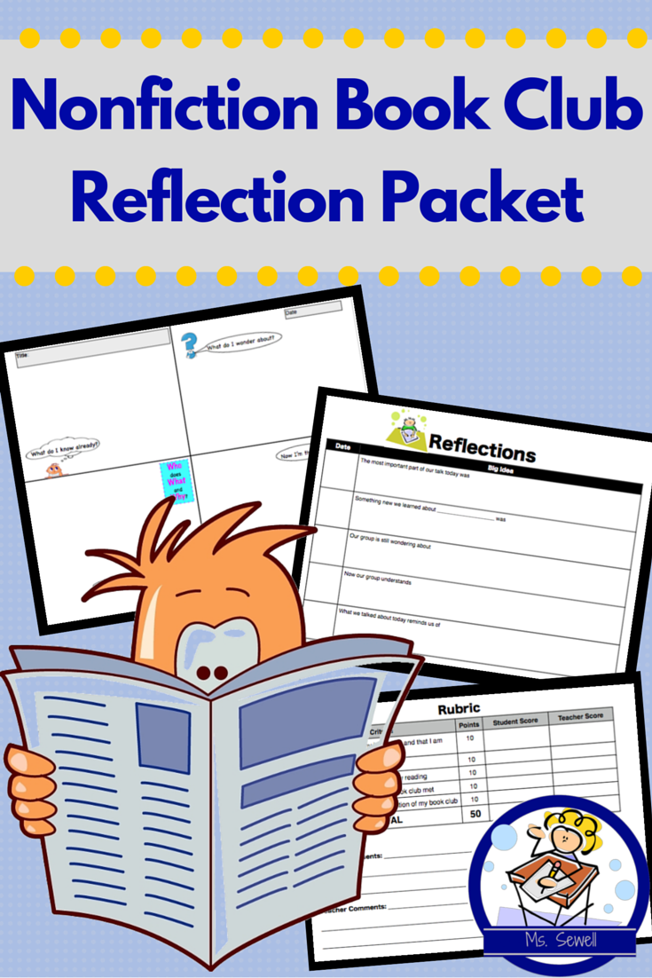 Use This Packet During A Nonfiction Book Club Unit Where Students