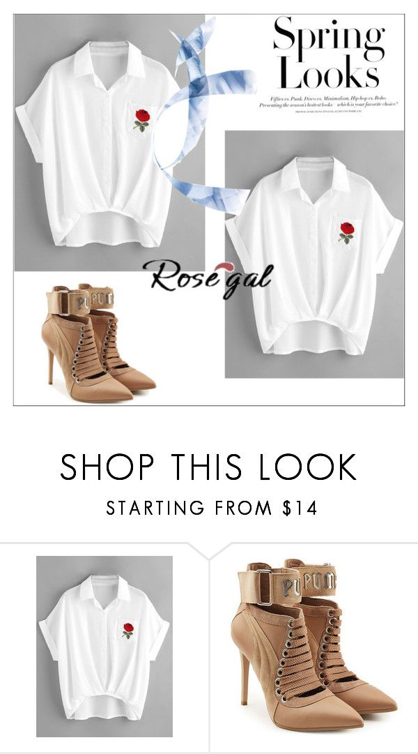 """""""Rosegal for contest"""" by yi-liangdu ❤ liked on Polyvore featuring Puma and H&M"""