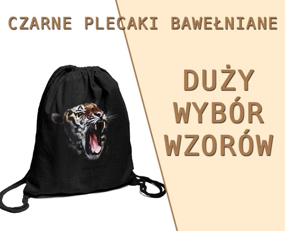 Worek Bawelniany Czarny Plecak Z Materialu Nadruki 5786374983 Oficjalne Archiwum Allegro Backpacks Drawstring Backpack Drawstring