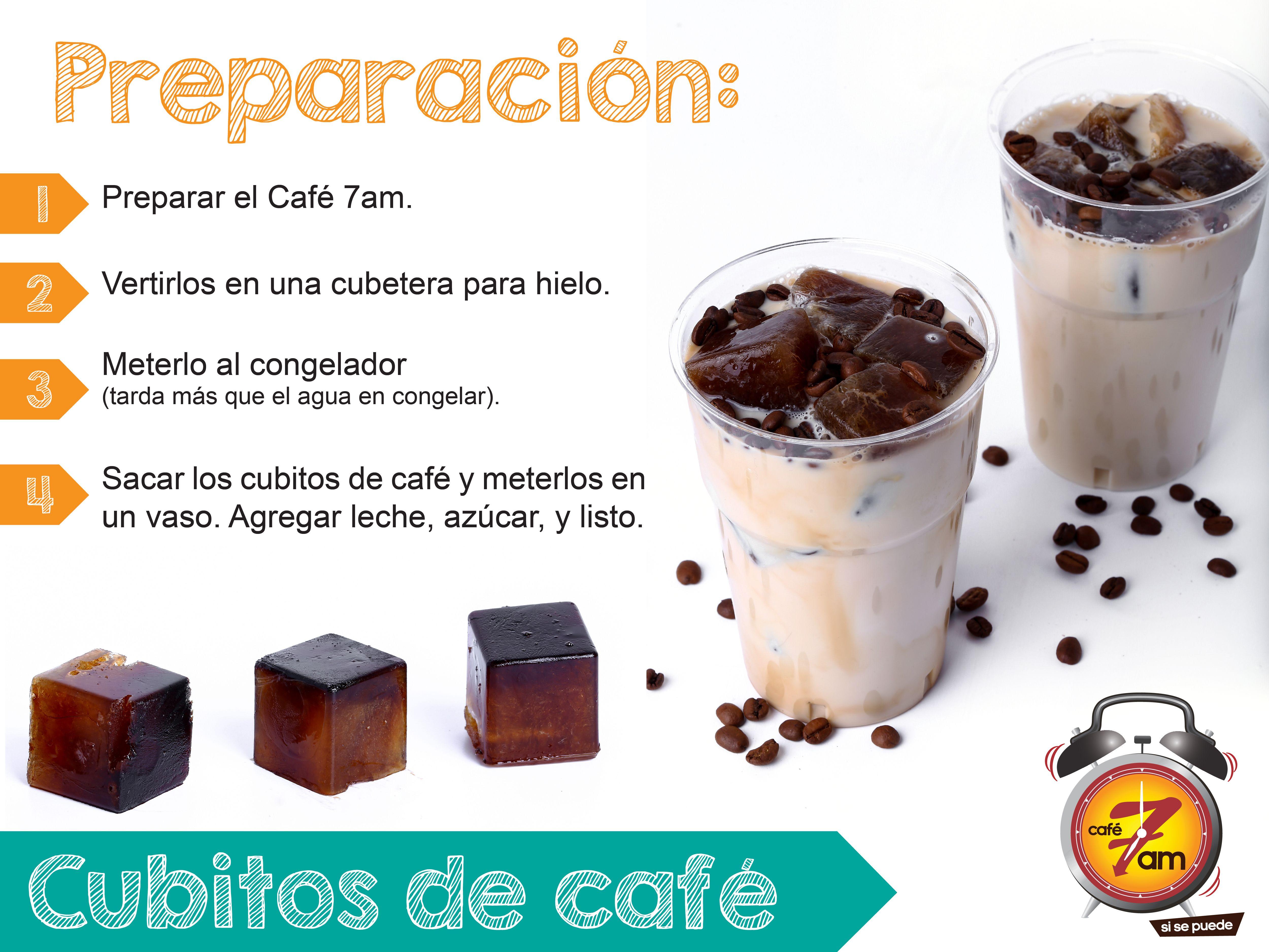 Consejo Podes Utilizar El Cafe Sobrante Para Hacer Los Cubitos De Hielo De Cafe Y Luego Hacer Tu Cafe 7am Recetas Para Cocinar Cafe Con Hielo Como Hacer Cafe