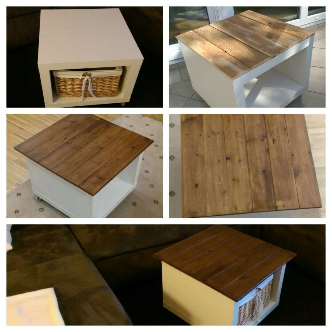 Ikeatisch Umgestaltet Auf Einem Schlichten IKEA Tisch Habe Ich Mir Eine Schne Holzplatte Drauf Gesetzt