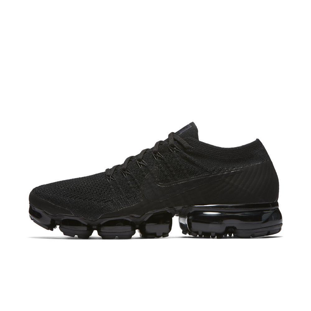 Nike Air VaporMax Flyknit Triple Noir Mens Running Shoe Size 105 Black