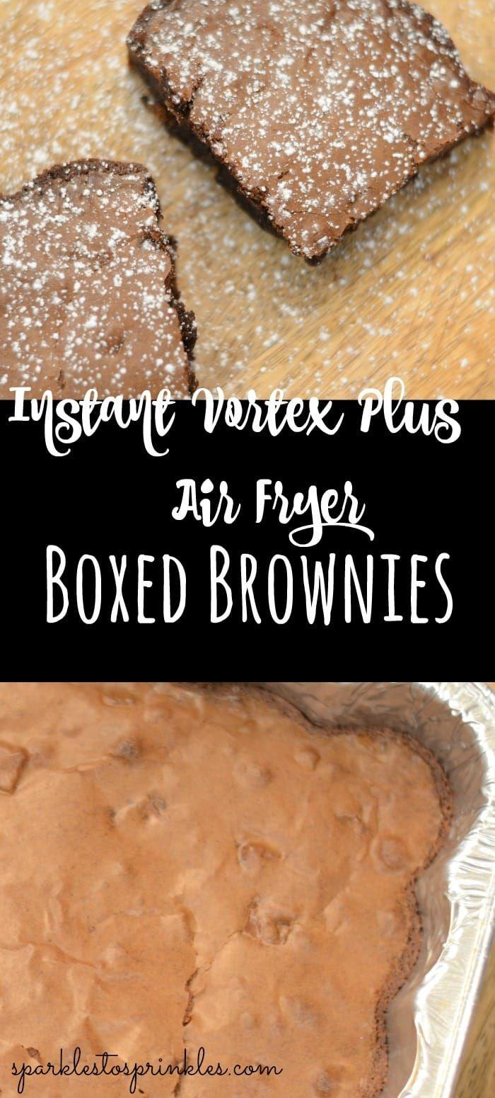 Instant Vortex Plus Air Fryer Boxed Brownies Air fryer