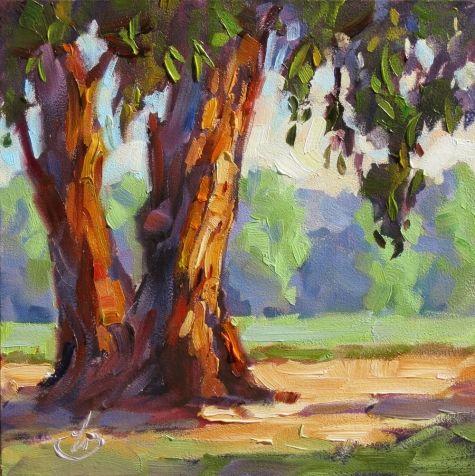 Eucalyptus Trees Farm California Impressionist Plein Air Painting By Tom Brown Original Art Painting By Tom Brown Dailypainters Com Tree Art Art Plein Air Paintings