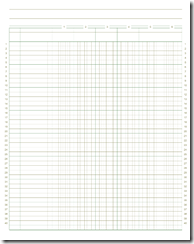 Free Ledger Paper Printable For Accounting  Blog