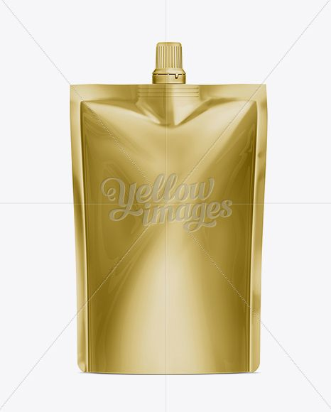 Doy-Pack With Top Cap Spout 05 Gold. Download on website.