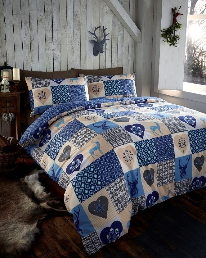 Blue Snowflake Bedding Sets