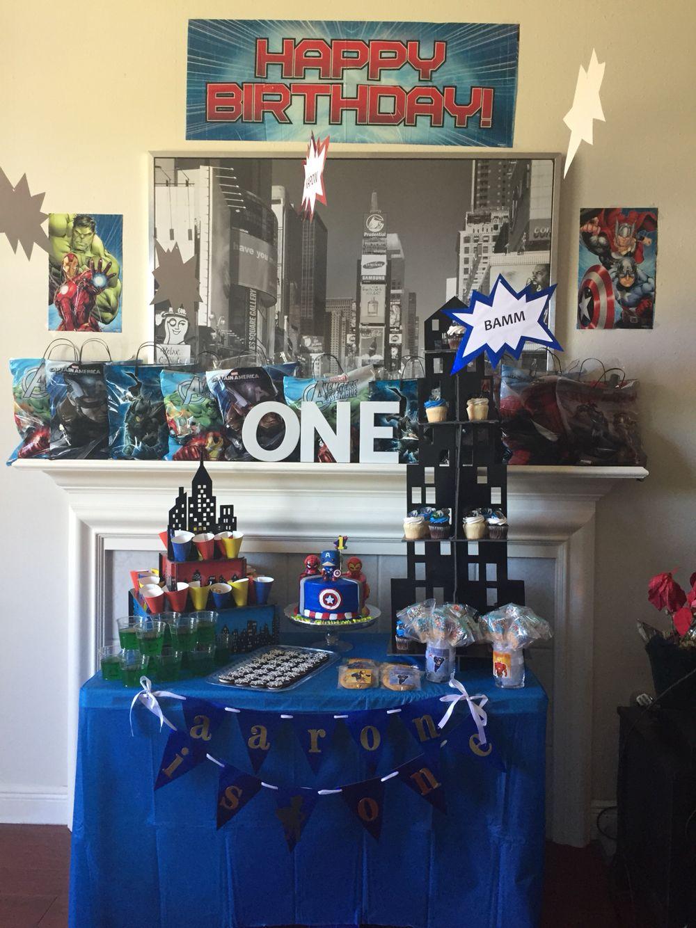 Superhero birthday decorations Superhero birthday