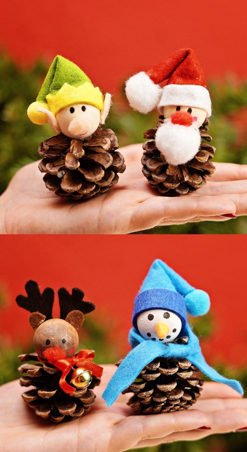 Pine Cone Christmas Craft Best Pine Cone Crafts Pine Cone Crafts Christmas Crafts Cones Crafts
