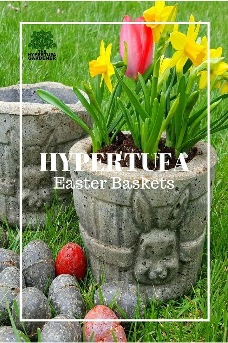 Hypertufa easter basket planters and eggs too easter baskets hypertufa easter basket planters and eggs too negle Gallery