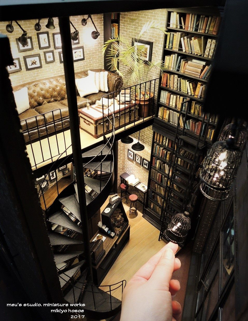 2017, book cafe & gallery miniature ♡♡meru's studio