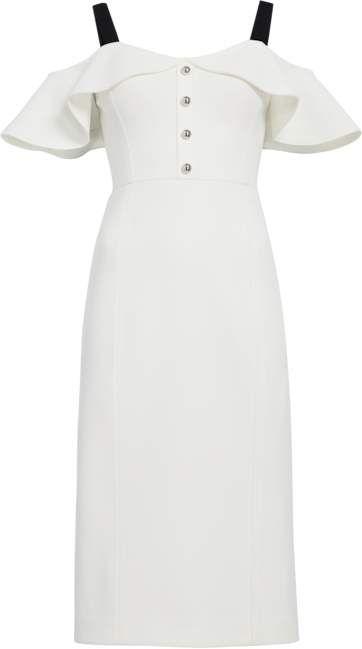 863451fb Jason Wu Crepe Cold Shoulder Cocktail Dress   Products