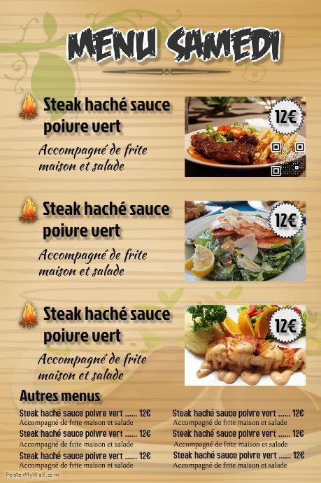 menu flyers