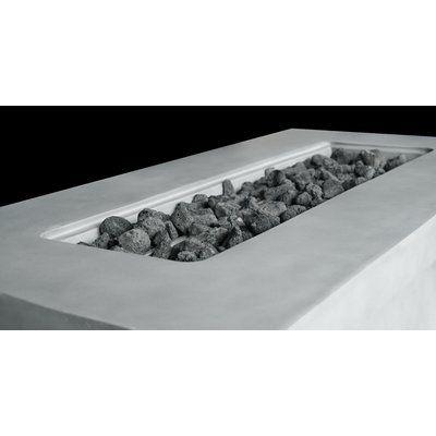Grice Cast Concrete Propan / Erdgas Feuerstellentisch | AllModern