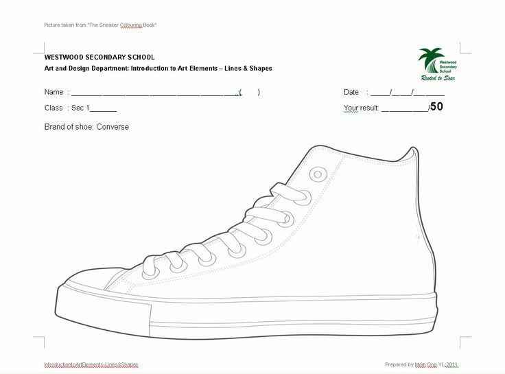 Sneaker Design Template Art Projects Pop Inspired In 2019