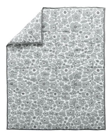 Look what I found on #zulily! Gray Go Lightly Floral Baby Quilt #zulilyfinds