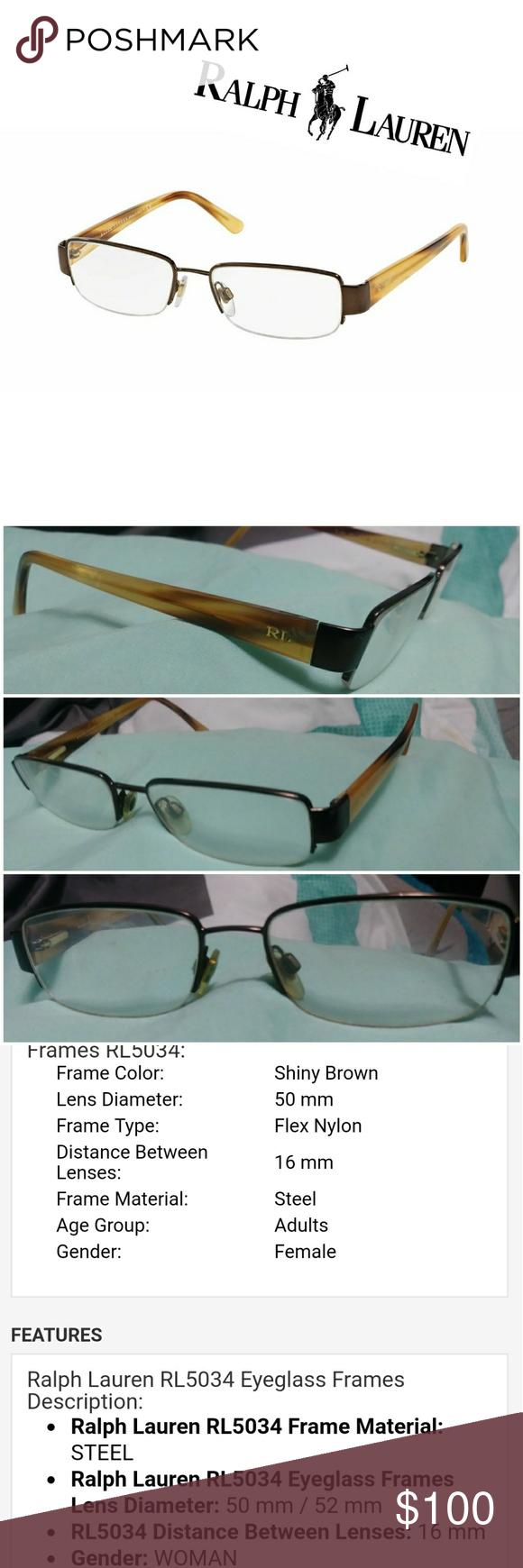7ab4059b7ed FINAL💲✂❗💗 Womens Ralph Lauren Glasses 💗 RL5034 Product description in  photos Prescription