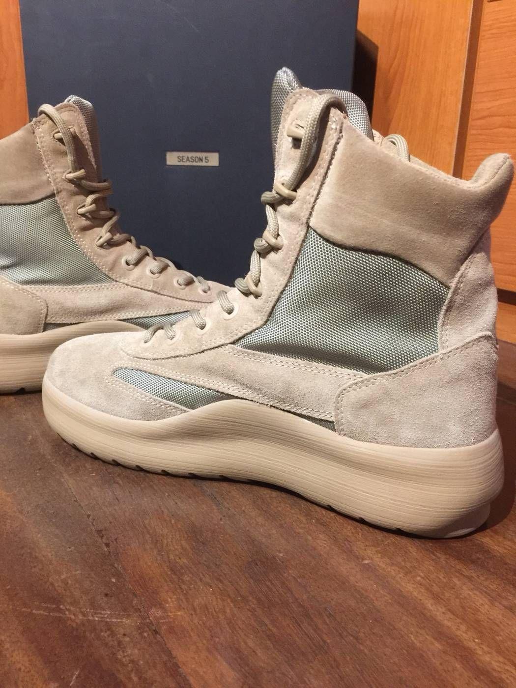 3960ffef2b132 Kanye West Yeezy Season 5 Military Suede Boots Size US 10   EU 43 - 4