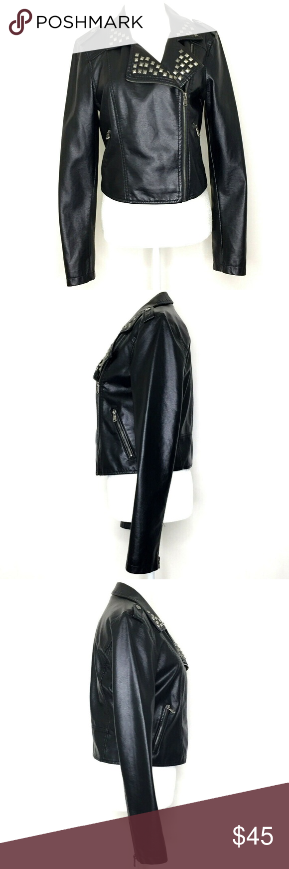 Ashley Outerwear Faux Leather Moto Biker Jacket Ashley Outerwear Women S Black Faux Leather Moto Jacket Black Faux Leather Moto Jacket Biker Jacket Outerwear [ 1740 x 580 Pixel ]
