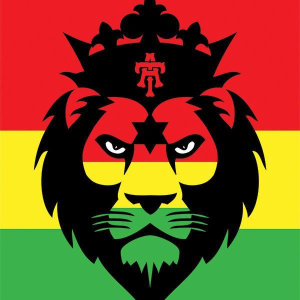Rasta flag lion head sticker