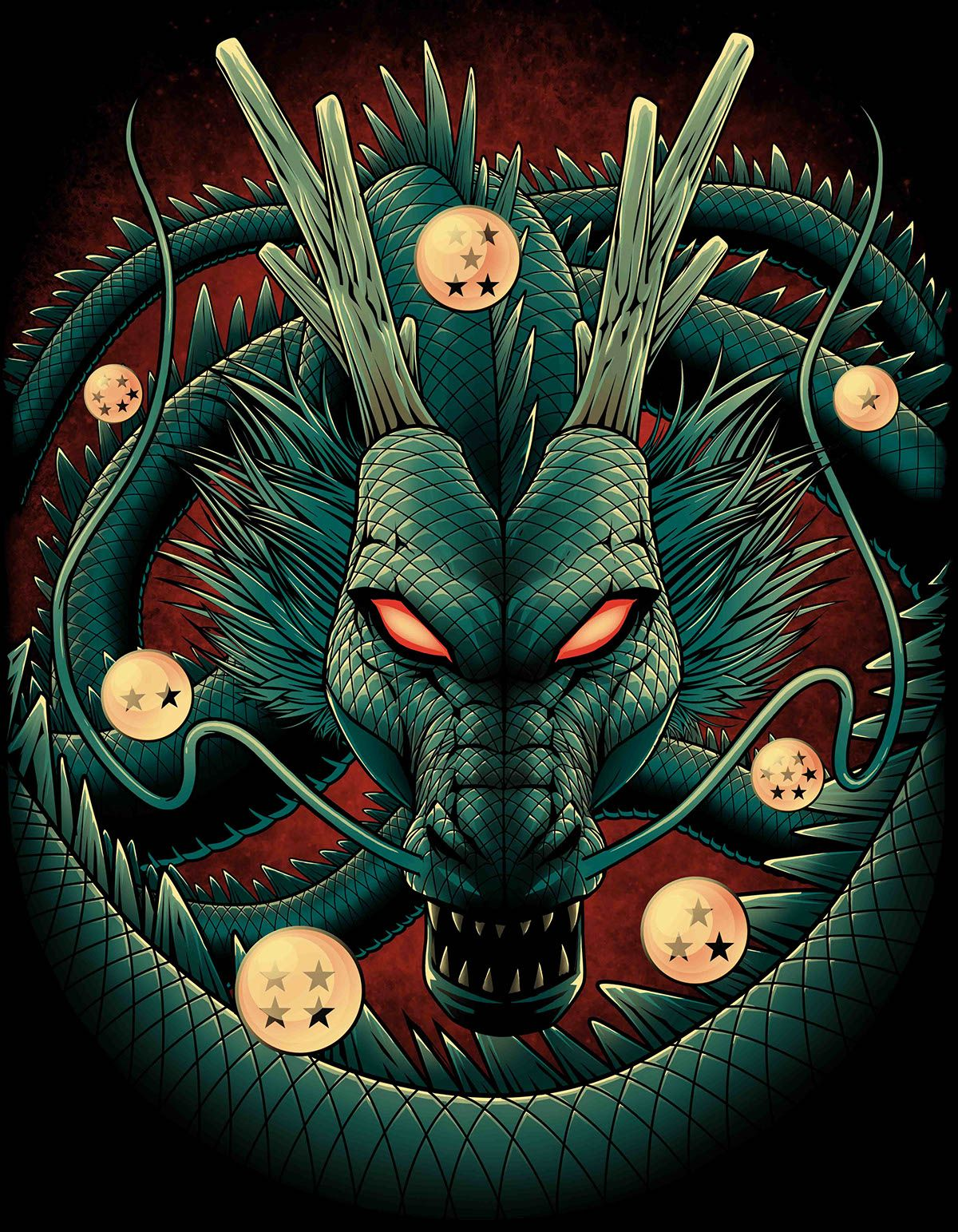 Shenron Dragon On Behance Dragones Wallpaper Pantalla De Goku