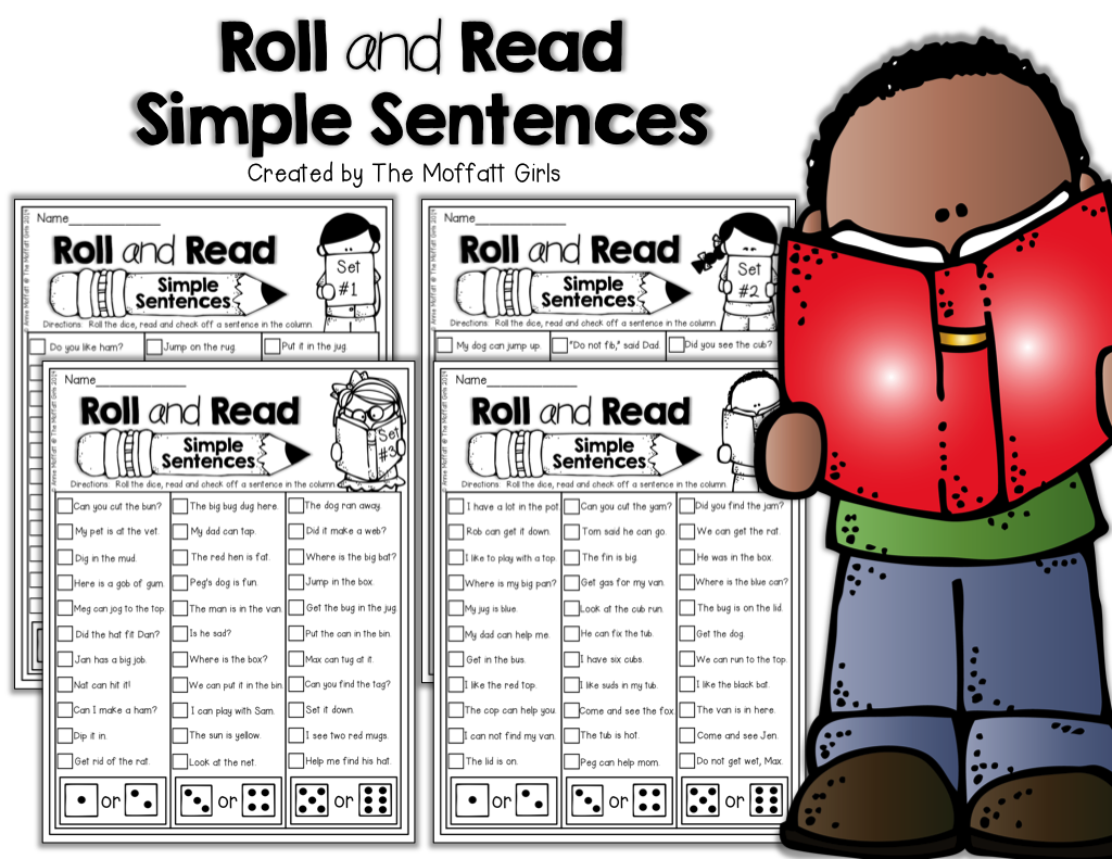 The Moffatt Girls I Can Read Simple Sentences Set 1 No Prep Packet